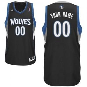 Minnesota Timberwolves Personnalisé Adidas Alternate Noir Maillot d'équipe de NBA achats en ligne - Swingman pour Enfants