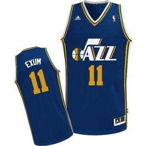 Utah Jazz Dante Exum #11 Road Swingman Maillot d'équipe de NBA - Bleu marin pour Homme
