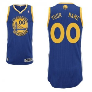 Golden State Warriors Authentic Personnalisé Road Maillot d'équipe de NBA - Bleu royal pour Enfants
