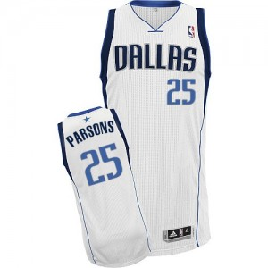 Maillot NBA Dallas Mavericks #25 Chandler Parsons Blanc Adidas Authentic Home - Homme