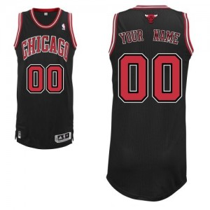 Maillot NBA Noir Authentic Personnalisé Chicago Bulls Alternate Homme Adidas