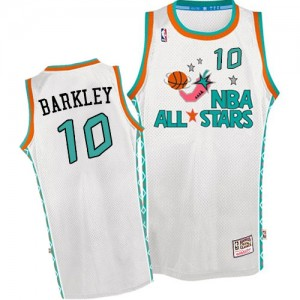 Maillot Authentic Phoenix Suns NBA Throwback 1996 All Star Blanc - #10 Charles Barkley - Homme