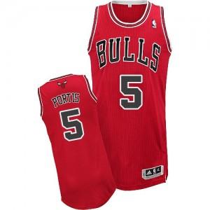 Chicago Bulls #5 Adidas Road Rouge Authentic Maillot d'équipe de NBA vente en ligne - Bobby Portis pour Homme