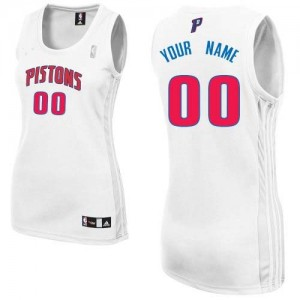 Maillot NBA Authentic Personnalisé Detroit Pistons Home Blanc - Femme