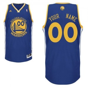 Maillot NBA Golden State Warriors Personnalisé Swingman Bleu royal Adidas Road - Homme