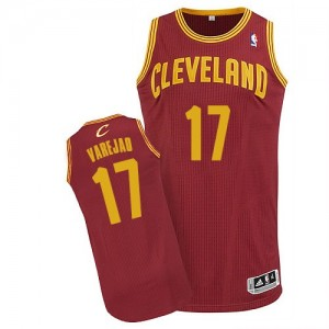 Maillot NBA Authentic Anderson Varejao #17 Cleveland Cavaliers Road Vin Rouge - Homme