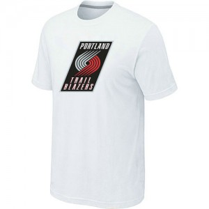 T-Shirts Blanc Big & Tall Portland Trail Blazers - Homme