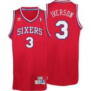 Maillot Adidas Rouge Throwack Swingman Philadelphia 76ers - Allen Iverson #3 - Homme