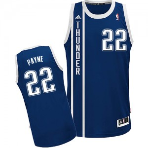 Maillot NBA Oklahoma City Thunder #22 Cameron Payne Bleu marin Adidas Swingman Alternate - Homme