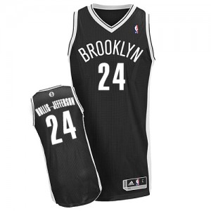 Maillot NBA Brooklyn Nets #24 Rondae Hollis-Jefferson Noir Adidas Authentic Road - Homme