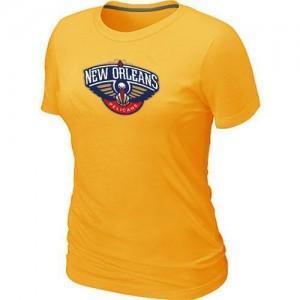 New Orleans Pelicans Big & Tall T-Shirts d'équipe de NBA - Jaune pour Femme