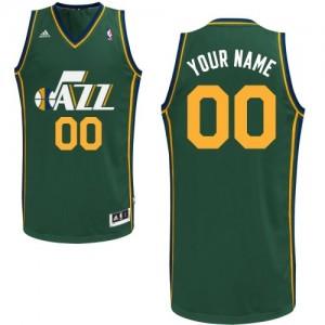 Utah Jazz Personnalisé Adidas Alternate Vert Maillot d'équipe de NBA préférentiel - Authentic pour Femme