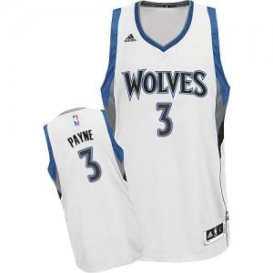 Maillot NBA Swingman Adreian Payne #3 Minnesota Timberwolves Home Blanc - Homme