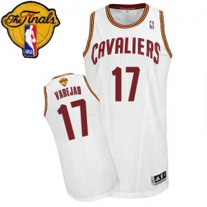 Maillot NBA Authentic Anderson Varejao #17 Cleveland Cavaliers Home 2015 The Finals Patch Blanc - Homme