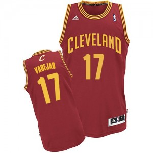 Maillot NBA Vin Rouge Anderson Varejao #17 Cleveland Cavaliers Road Swingman Homme Adidas