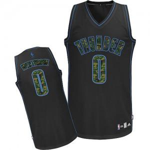 Oklahoma City Thunder Russell Westbrook #0 Fashion Authentic Maillot d'équipe de NBA - Camo noir pour Homme