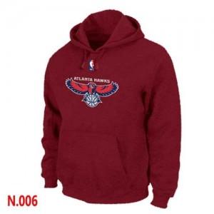 Sweat à capuche NBA Atlanta Hawks Rouge - Homme
