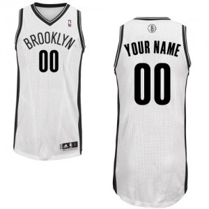 Maillot Brooklyn Nets NBA Home Blanc - Personnalisé Authentic - Enfants