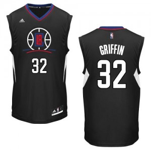Los Angeles Clippers Blake Griffin #32 Alternate Authentic Maillot d'équipe de NBA - Noir pour Homme