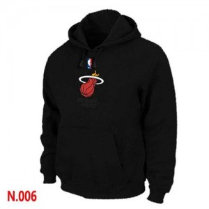 Sweat à capuche NBA Noir Miami Heat Homme