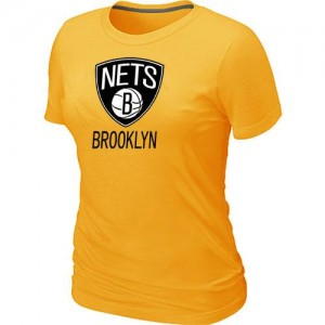 T-Shirts NBA Jaune Brooklyn Nets Big & Tall Femme