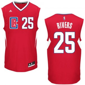 Maillot Adidas Rouge Road Authentic Los Angeles Clippers - Austin Rivers #25 - Homme