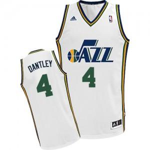 Maillot Swingman Utah Jazz NBA Home Blanc - #4 Adrian Dantley - Homme